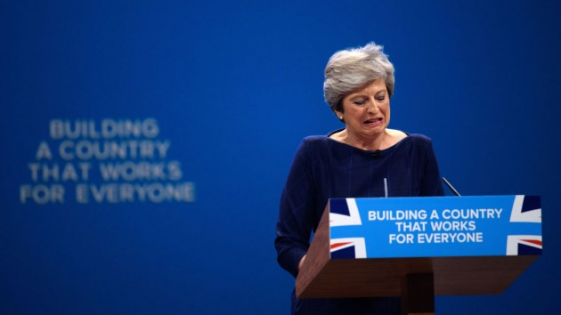 Conservative Leader Makes Her Keynote Speech To Party Conference